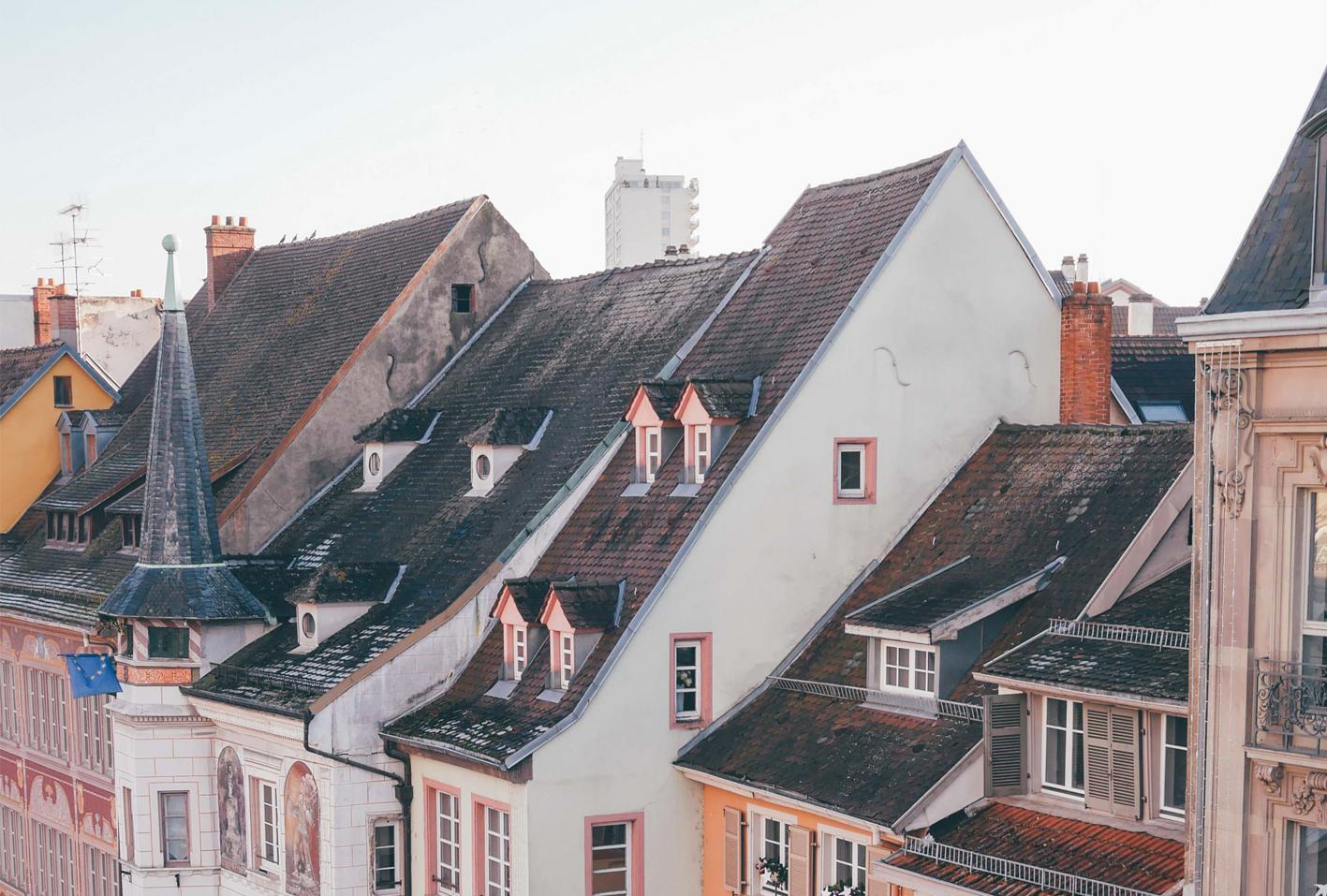 Les facades colorées de Mulhouse